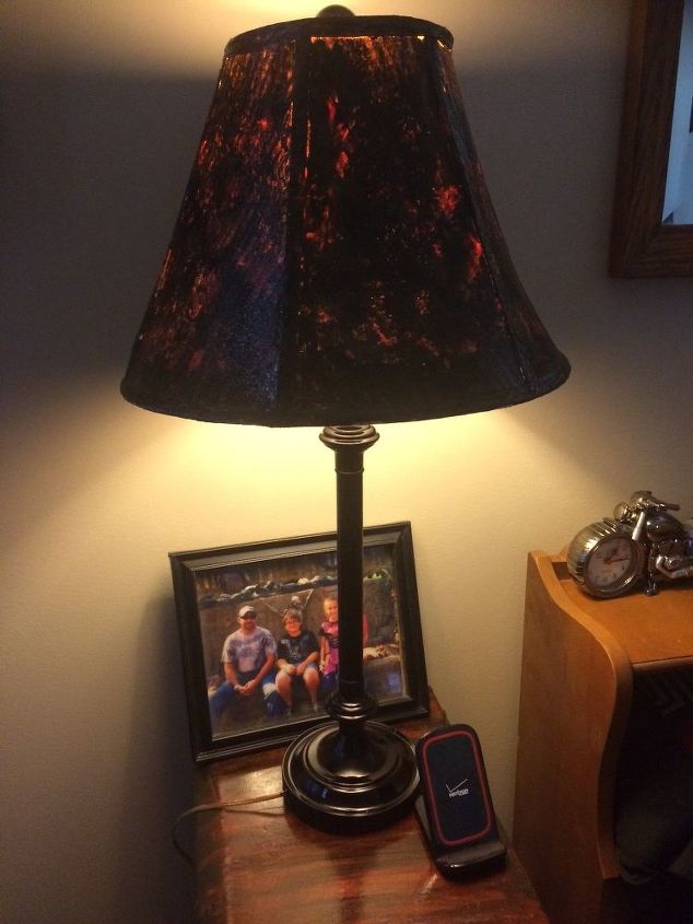 Re do of old lamp shades so they go with my night stand for Redo lamp shades