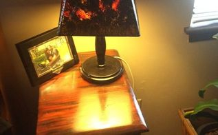re do of old lamp shades so they go with my night stand redo, crafts, lighting