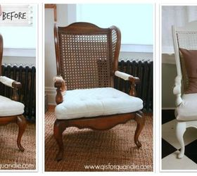 Nice Cane Back Chairs Fixer Upper Style, Chalk Paint, Painted Furniture,  Reupholster