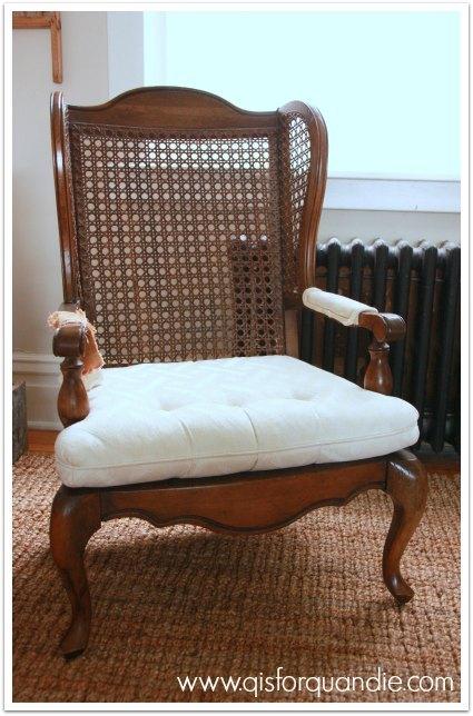 Chalk Paint Cane Back Chair