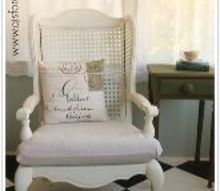 cane back chairs fixer upper style, chalk paint, painted furniture, reupholster