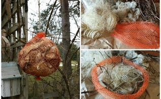 for the birds natural nesting material bag, animals, crafts, outdoor living, pets animals, repurposing upcycling