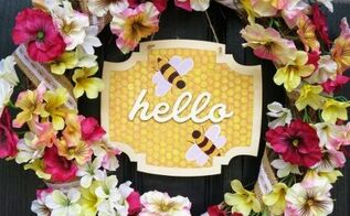 my bee s knees spring summer wreath, crafts, how to, seasonal holiday decor, wreaths