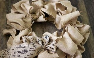 diy burlap wreath, crafts, how to, wreaths