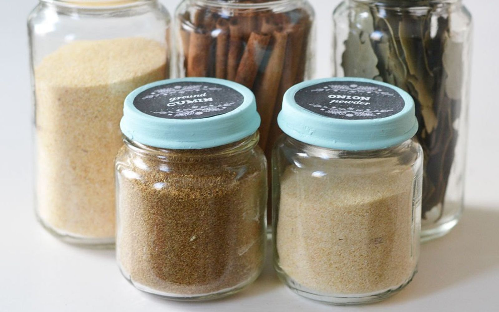 10 borderline brilliant ways to store spices and save counter reuse glass jars for an organized set up