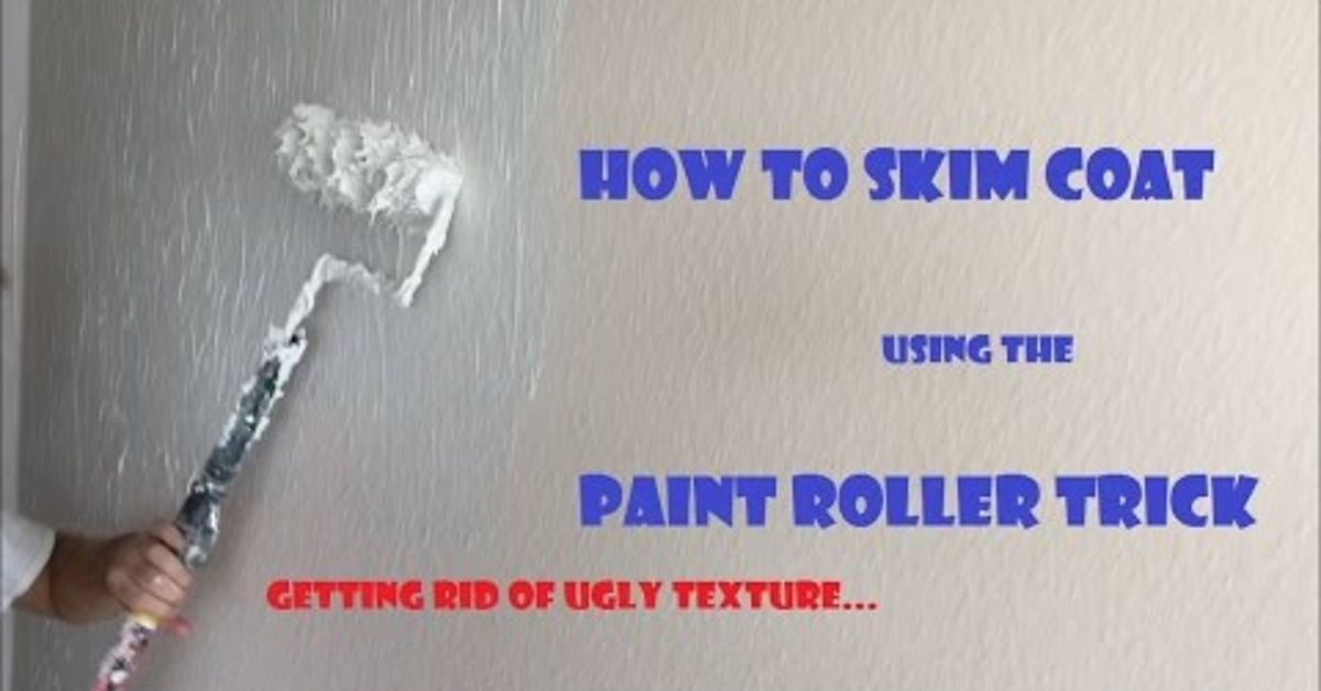 how to skim coat walls using the paint roller trick hometalk. Black Bedroom Furniture Sets. Home Design Ideas
