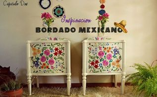 how can i liven up these boring nightstands, painted furniture