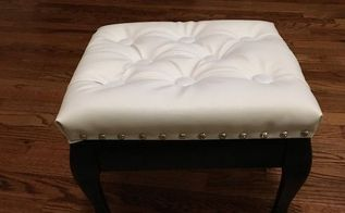breathing new life into an old foot stool my 30dayflip for march, how to, painted furniture, reupholster
