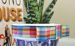 make a custom photo planter, container gardening, crafts, decoupage, gardening