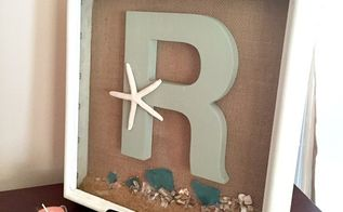 coastal shadow box thrift store find makeover, chalk paint, crafts, wall decor
