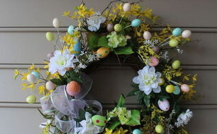 a spring welcome, crafts, easter decorations, seasonal holiday decor, wreaths
