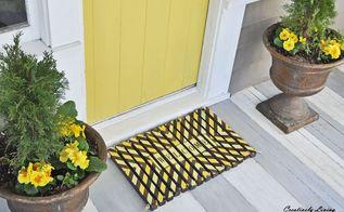 diy wooden door mat, how to, outdoor furniture, woodworking projects