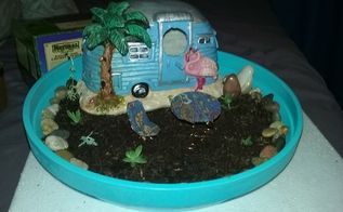 my mini succulent garden i made as a gift for a neighbor, container gardening, crafts, flowers, gardening, succulents