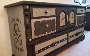 i call her the rock star princess, chalk paint, painted furniture