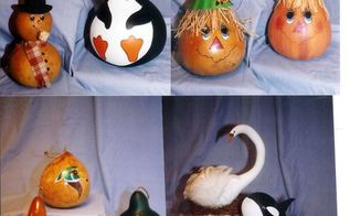 oh gourds, crafts, repurposing upcycling