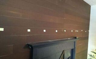faux shiplap planked wall, diy, wall decor