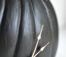 make this working chalkboard pumpkin clock, chalkboard paint, crafts, halloween decorations, seasonal holiday decor