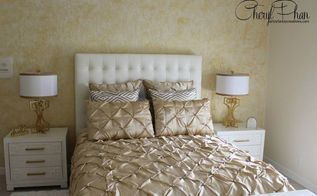beautiful wall covering done with tissue paper, how to, wall decor, Gold Metallic tissue paper faux finish