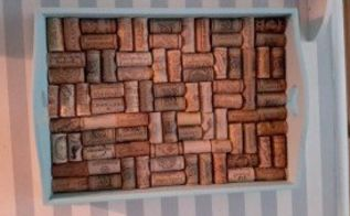 turning yard sale wine corks into sweet tray, chalk paint, crafts, repurposing upcycling