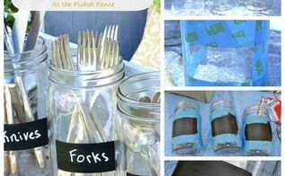 a diy mason jar dining caddy, chalkboard paint, crafts, mason jars