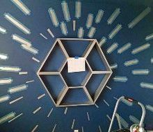 star wars shelf and hyperspace wall, bedroom ideas, painting, shelving ideas, wall decor, woodworking projects