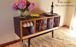 a second chance for an old stereo, painted furniture, repurposing upcycling
