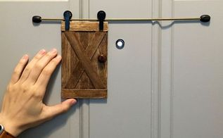 little barn door for home security, crafts, doors, home security, how to