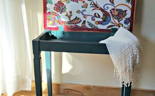 bench seat makeover, painted furniture, reupholster