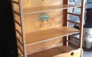 old crib to bookshelf, painted furniture, repurposing upcycling, shelving ideas, storage ideas