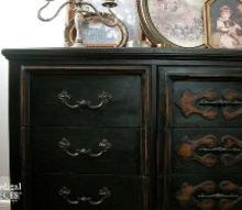 how to update an outdated dresser, chalk paint, painted furniture