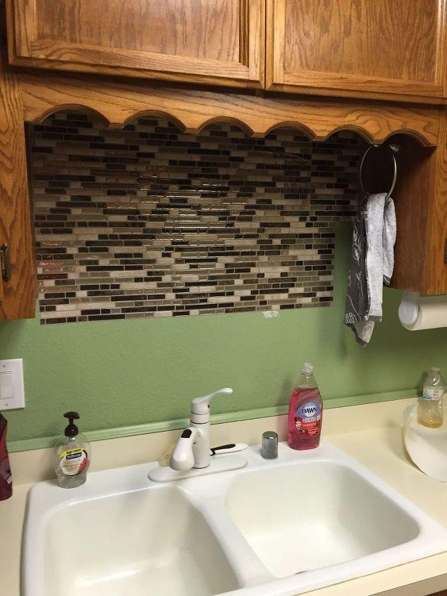 using vinyl smart tiles to update my kitchen  diy  kitchen backsplash   kitchen design. Using Vinyl Smart Tiles to Update My Kitchen   Hometalk