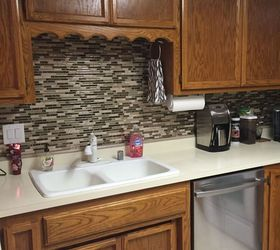 Wonderful Kitchen Backsplash Vinyl Using Vinyl Smart Tiles To Update My Kitchen |  Hometalk