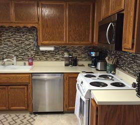 Kitchen Backsplash Using Vinyl Tiles smart tiles backsplash