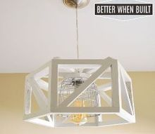 diy hexagon pendant lamp, diy, how to, lighting, repurposing upcycling
