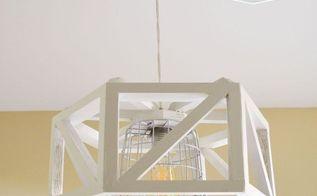 diy hexagon pendant lamp, diy, how to, lighting, repurposing upcycling