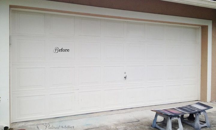 Faux carriage garage door curb appeal for just a few for Faux carriage garage door