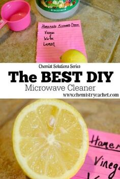 chemist solutions diy easy simple microwave cleaner springcleaning, cleaning tips, how to