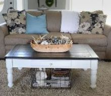 thrift store farmhouse coffee table, painted furniture