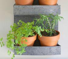 hanging indoor herb garden, container gardening, gardening, wall decor