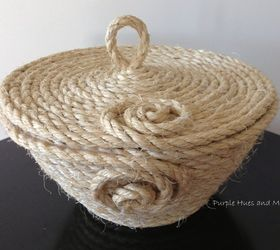 coiled sisal rope basket with lid crafts diy how to organizing - Sisal Rope