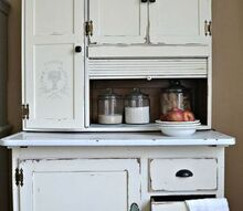 hoosier makeover, chalk paint, painted furniture