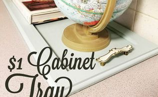 the 1 cabinet tray, crafts, kitchen cabinets, repurposing upcycling