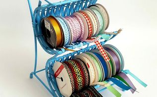 from wine rack to ribbon cradle easy thrifty craft room storage, craft rooms, crafts, organizing, repurposing upcycling, storage ideas