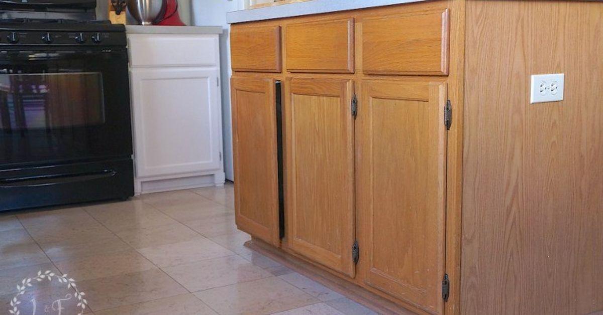 How to update a builder grade kitchen island with trim and - Kitchen island decorative trim ...
