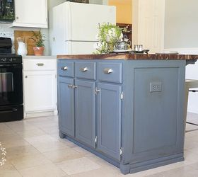 How To Update And Builder Grade Kitchen Island With Trim And Paint, Kitchen  Design, ...