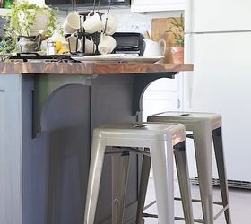 How To Update And Builder Grade Kitchen Island With Trim And Paint, Kitchen  Design,