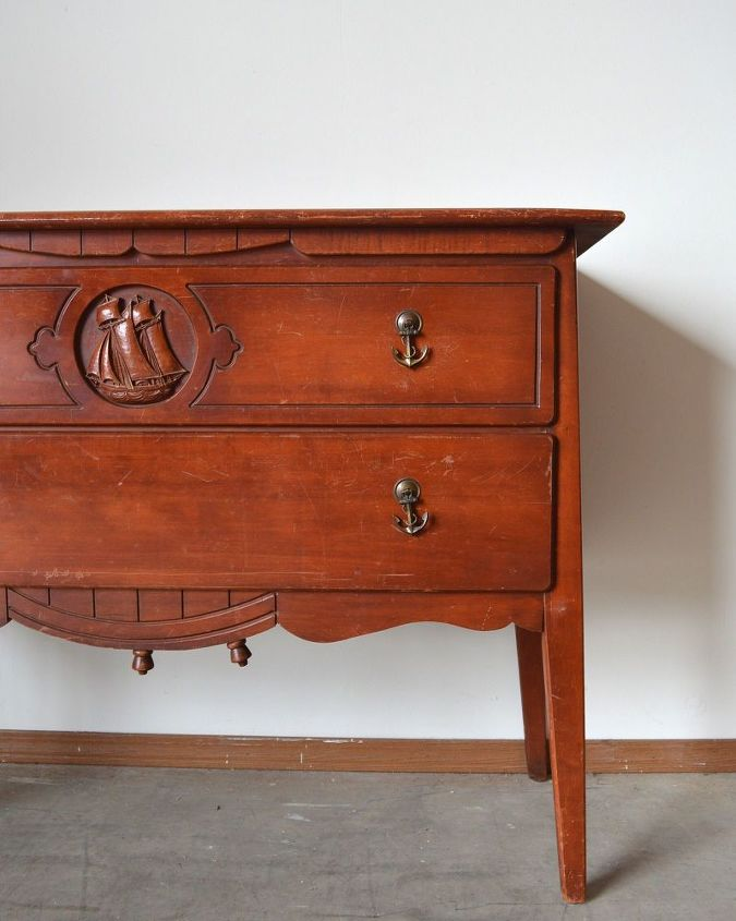 Before And After A Unique Nautical Dresser Hometalk