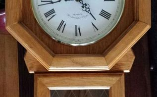 up cycle of an old clock, chalk paint, crafts, home decor