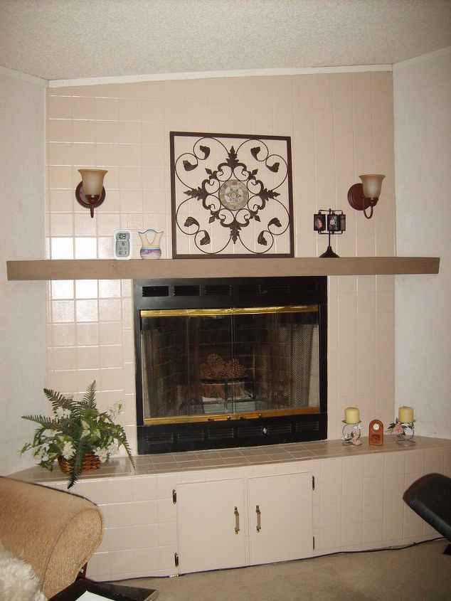 Ugly Tile Fireplace Surround Hometalk