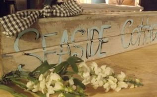 an old pot lid and vintage wood make cute homemade signs, crafts, repurposing upcycling, wall decor
